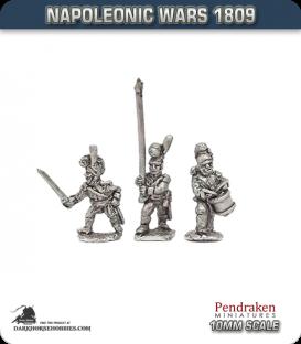 10mm Napoleonic Wars (1809): Wurttemberg Line/Fusilier Command