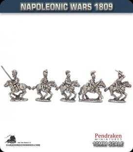 10mm Napoleonic Wars (1809): Wurttemberg Jager zu Pferd