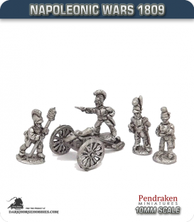 10mm Napoleonic Wars (1809): Wurttemberg 6pdr Guns (with crew)