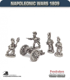 10mm Napoleonic Wars (1809): Wurttemberg 7in Howitzers (with crew)