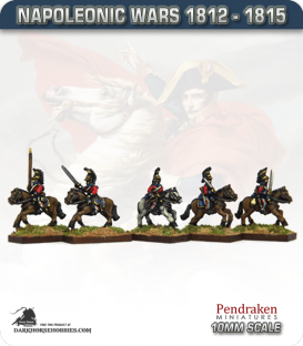 10mm Napoleonic Wars (1812-15): British Dragoons (with command)