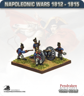 10mm Napoleonic Wars (1812-15): British 6pdr Guns (with line crew)