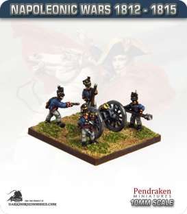 10mm Napoleonic Wars (1812-15): British 5.5in Howitzers (with line crew)