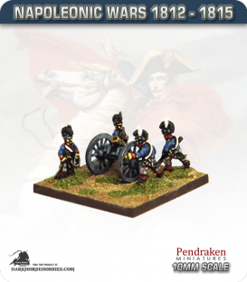 10mm Napoleonic Wars (1812-15): British 5.5in Howitzers (with horse crew)