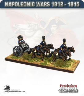 10mm Napoleonic Wars (1812-15): British Limbers (with line team / out-riders)