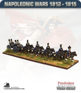 10mm Napoleonic Wars (1812-15): British Ammo Limber (with horse team / out-riders)