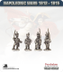 10mm Napoleonic Wars (1812-15): Brunswick Light Infantry (with command) - March Attack