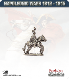 10mm Napoleonic Wars (1812-15): Brunswick Leib Battalion Officers - Mounted