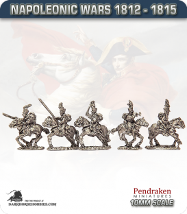 10mm Napoleonic Wars (1812-15): Brunswick Hussars (with command)