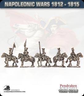 10mm Napoleonic Wars (1812-15): Brunswick Uhlans (with command)