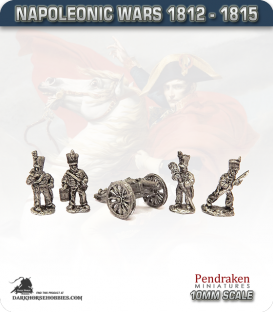 10mm Napoleonic Wars (1812-15): Brunswick French 6pdr Guns (with line crew)