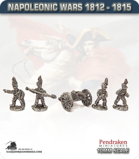 10mm Napoleonic Wars (1812-15): Brunswick French 6pdr Guns (with horse crew)