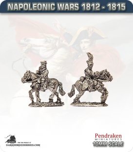 10mm Napoleonic Wars (1812-15): Brunswick Duke of Brunswick and ADC (mounted)