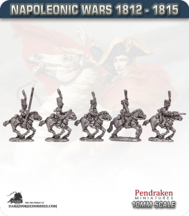 10mm Napoleonic Wars (1812-15): Belgian Dragoons (with command)
