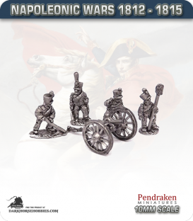 10mm Napoleonic Wars (1812-15): 6pdr Guns (with horse crew)