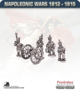 10mm Napoleonic Wars (1812-15): 7in Howitzers (with line crew)
