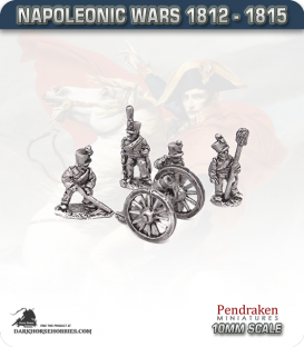 10mm Napoleonic Wars (1812-15): 7in Howitzers (with horse crew)