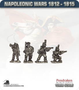 10mm Napoleonic Wars (1812-15): Hanoverian Light/Jager (with command)