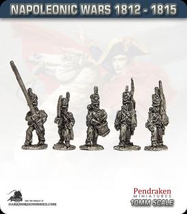 10mm Napoleonic Wars (1812-15): Hanoverian Landwehr (with command)