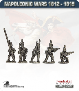 10mm Napoleonic Wars (1812-15): KGL Light Infantry Skirmisher (with command)