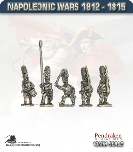 10mm Napoleonic Wars (1812-15): Prussian Guard Infantry (with command) - March Attack