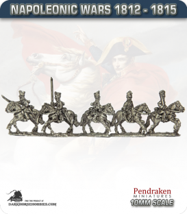 10mm Napoleonic Wars (1812-15): Prussian Dragoons (with command)