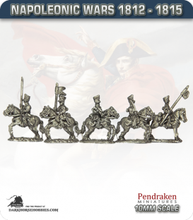 10mm Napoleonic Wars (1812-15): Prussian Uhlans (with command)