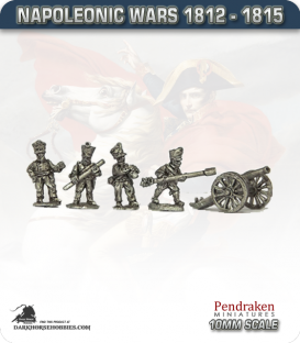 10mm Napoleonic Wars (1812-15): Prussian 6pdr Guns (with line crew)
