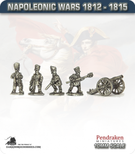 10mm Napoleonic Wars (1812-15): Prussian 7in Howitzers (with line crew)