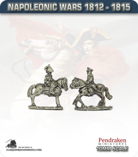 10mm Napoleonic Wars (1812-15): Prussian Mounted General and ADC