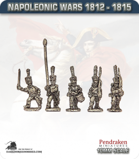 10mm Napoleonic Wars (1812-15): Prussian Grenadiers - March Attack