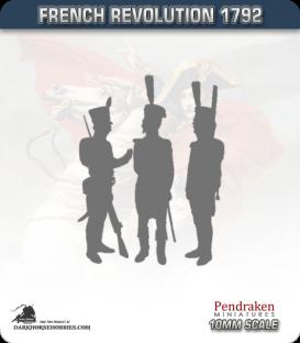 10mm Revolutionary War (1792-1797): Austrian Fusilier - March Attack