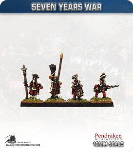 10mm Seven Years War: Austro-Hungarian Tricorn - Advancing