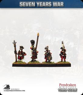 10mm Seven Years War: Austro-Hungarian Tricorn - Port Musket
