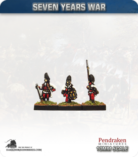 10mm Seven Years War: Austro-Hungarian Grenadier - March Attack