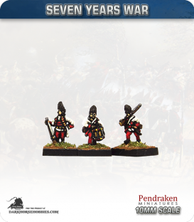 10mm Seven Years War: Austro-Hungarian Grenadier - Marching