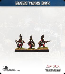 10mm Seven Years War: Austro-Hungarian Grenadier - Advancing