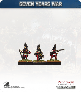10mm Seven Years War: Austro-Hungarian Grenadier - Firing