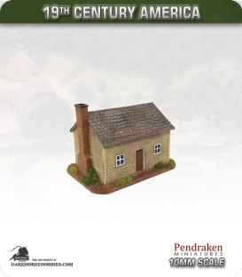 19th Century America (10mm): Small Farmhouse (with clapboard exterior)