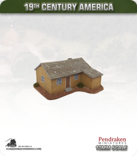 19th Century America (10mm): Small Farmhouse (with timber exterior)