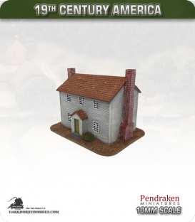 19th Century America (10mm): Large Farmhouse (with clapboard exterior)