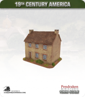 19th Century America (10mm): Large Farmhouse (with stone exterior)