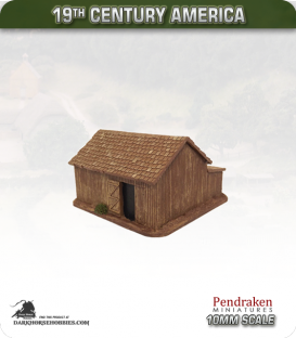 19th Century America (10mm): Small Barn (with timber exterior)