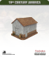 19th Century America (10mm): Large Barn (with stone and timber exterior)