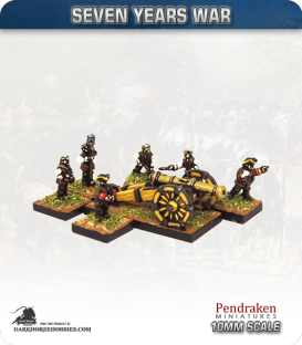 10mm Seven Years War: Austrian 9pdr Gun with Limber, Horses and Crew