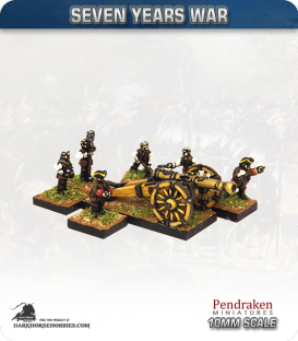 10mm Seven Years War: Austrian 12pdr Gun with Limber, Horses and Crew