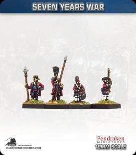10mm Seven Years War: British Tricorn Foot - Port Musket