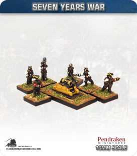 "10mm Seven Years War: Austrian 12"" Mortar with Crew"