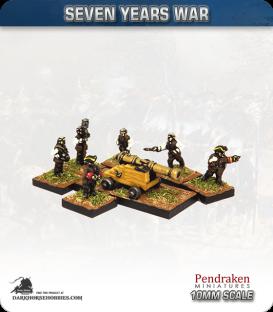 10mm Seven Years War: Austrian 9pdr Fortress/Naval Gun with Crew