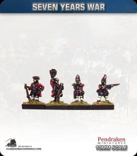 10mm Seven Years War: British Grenadier Foot - Firing